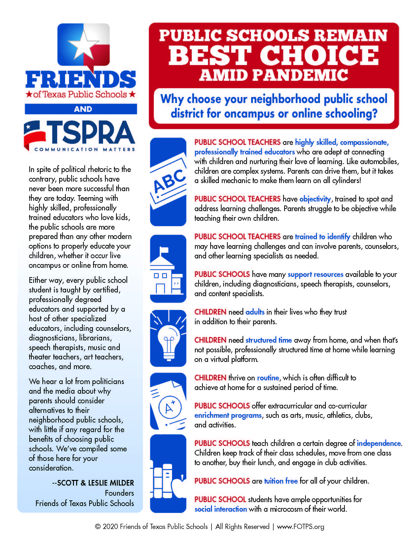 TSPRA Texas Public School Talking Points
